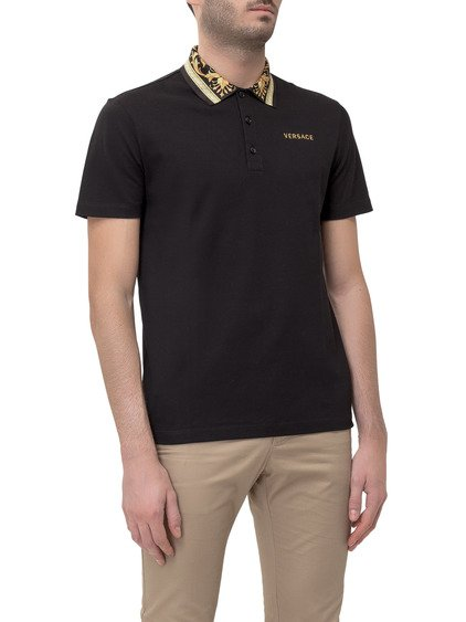 Polo with Printed Collar image
