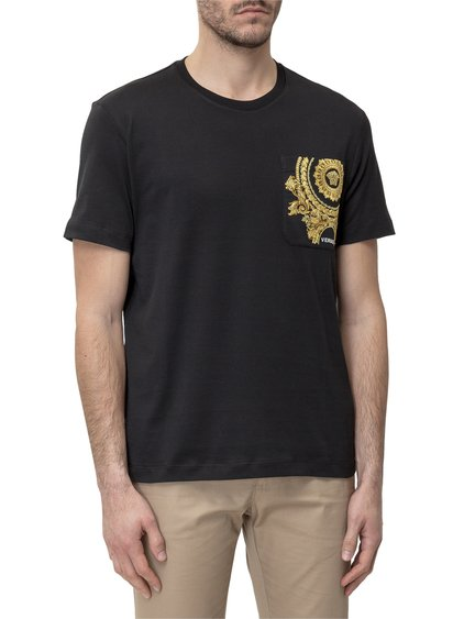 T-Shirt with Embroidered Medusa image