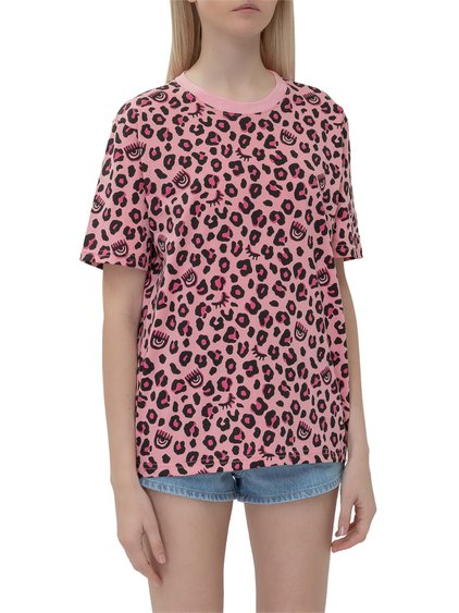 T-Shirt with Leopard Print image