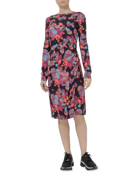 Flower Print Wrap Dress image