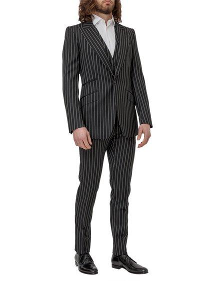 Three Piece Pinstripe Suit image