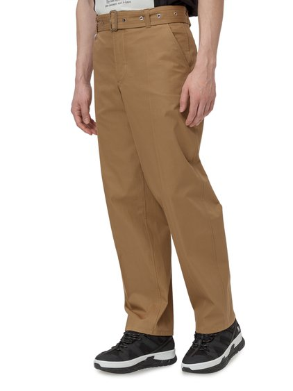 Cotton Trousers with Belt image