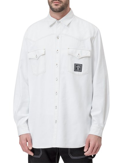 Shirt with Patch Pockets and Logo image