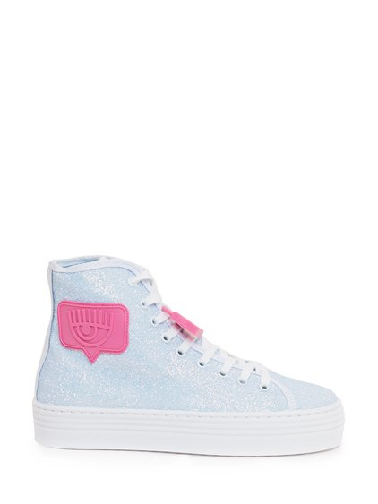 High Sneakers with Glitter image