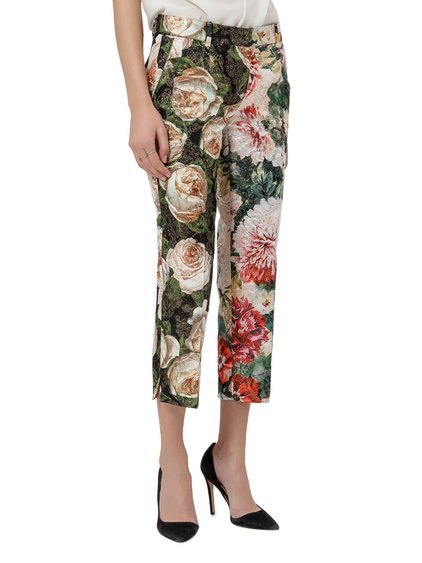 Brocade Floral Trousers image