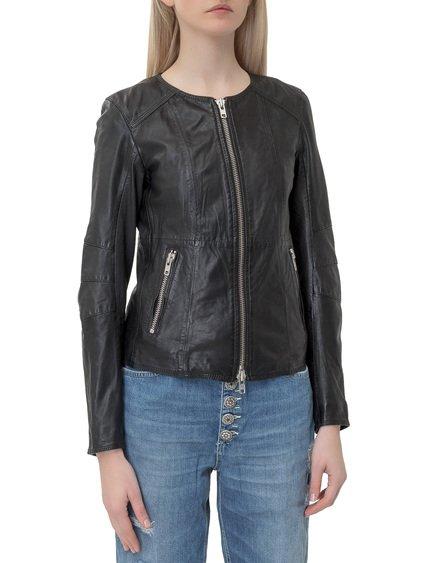 Zipped Leather Jacket image