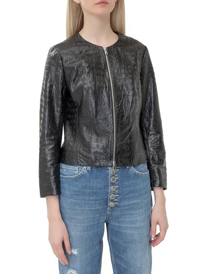 Fani Zipped Leather Jacket image