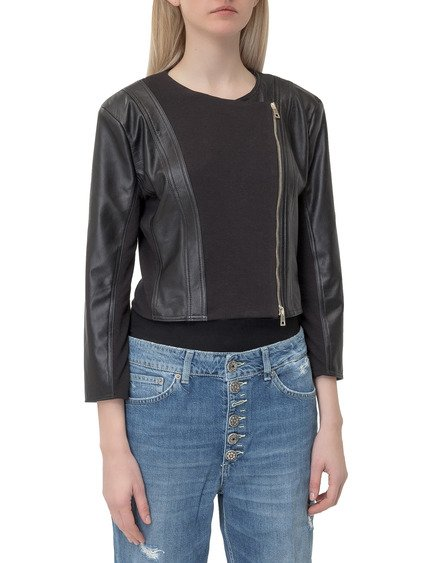 Piera Zipped Leather Jacket image