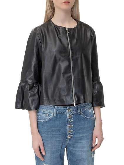 Tinas Zipped Leather Jacket image