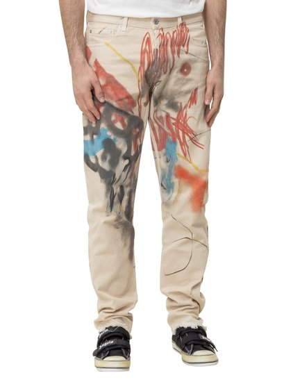 Robert Nava Jeans with Print image