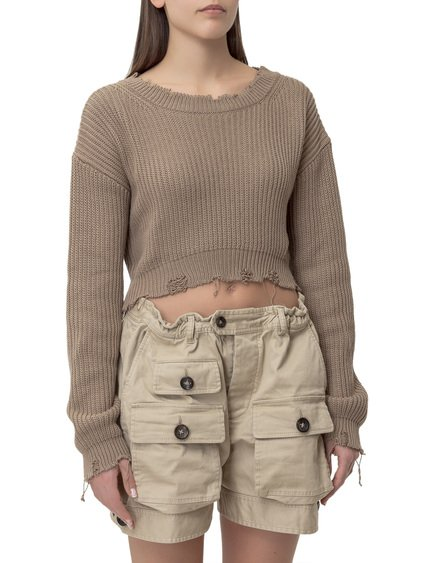 Sweater with Frayed Edges image