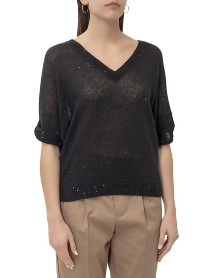 Pullover with V-Neck image