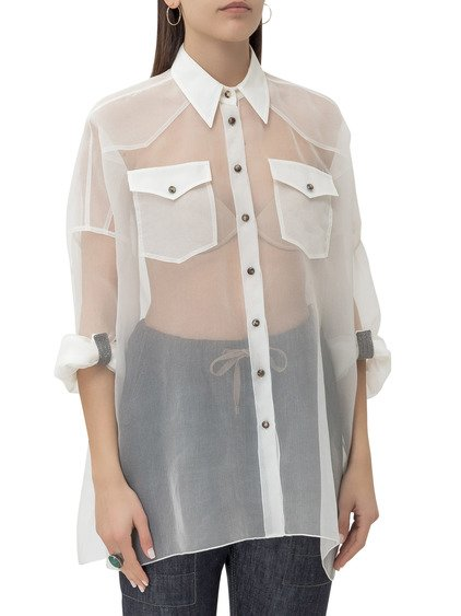 Shirt with Sheer Effect image