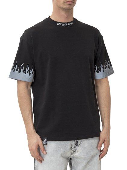 Reflective Flames T-shirt image