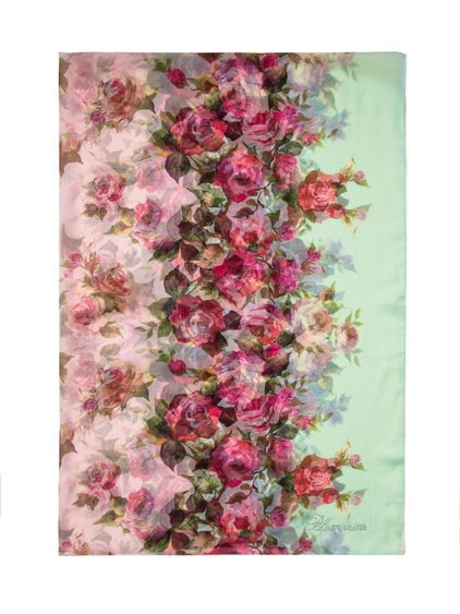 Scarf with Floral Print image