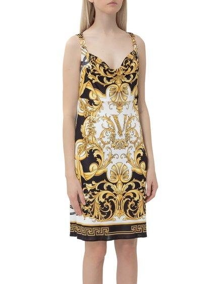 Dress with V Barocco Print image