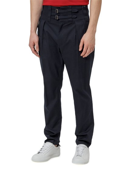 Cotton Trousers with Double Buckle image