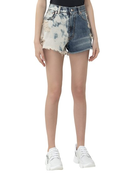Shorts with Distressed Effect image