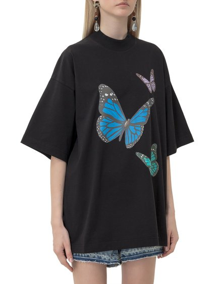 T-shirt with Butterflies Print image