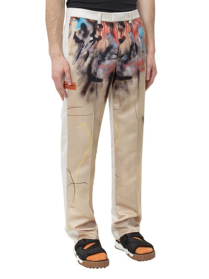 Robert Nava Trousers with Print image
