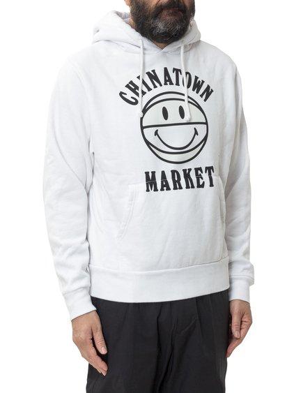 Smiley Hooded Sweatshirt UV Activated image