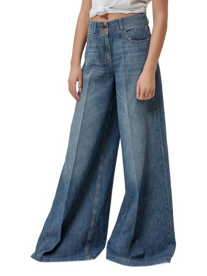 High Waisted Palazzo Jeans image