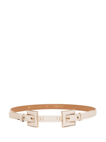 Double Buckle Leather Belt image