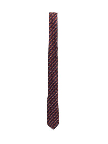 Silk Tie with Contrast Print image