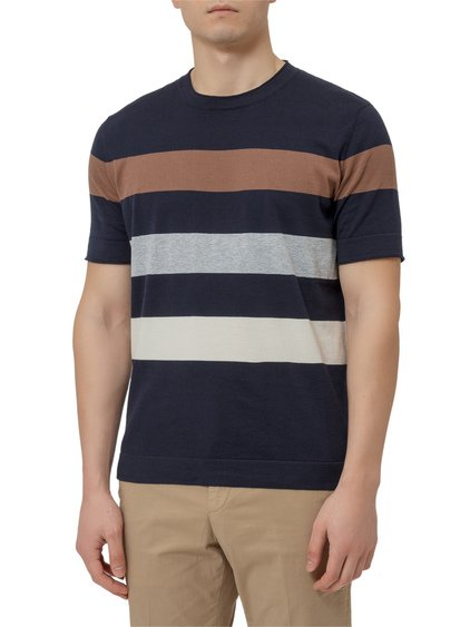 Striped Cotton Sweater image