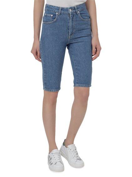Denim shorts image