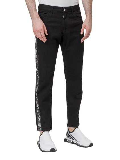 Skinny Jeans with Side Bands image