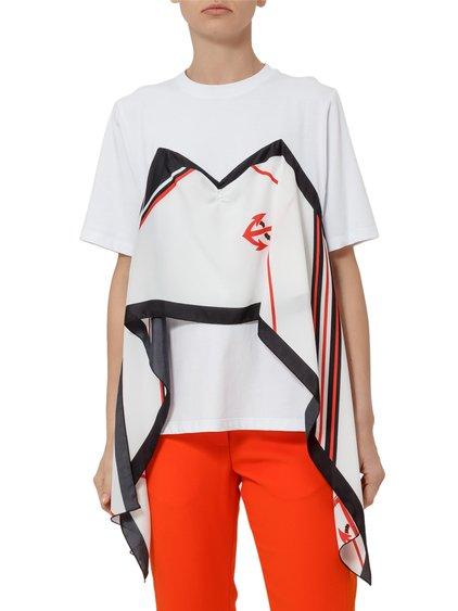Cotton T-shirt with Foulard image