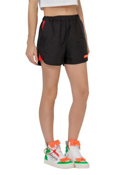 Nylon Shorts with Colorblock Inserts image