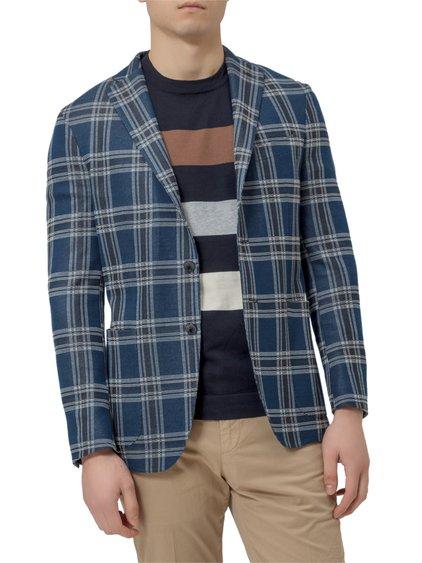 Cotton Blend Check Blazer image