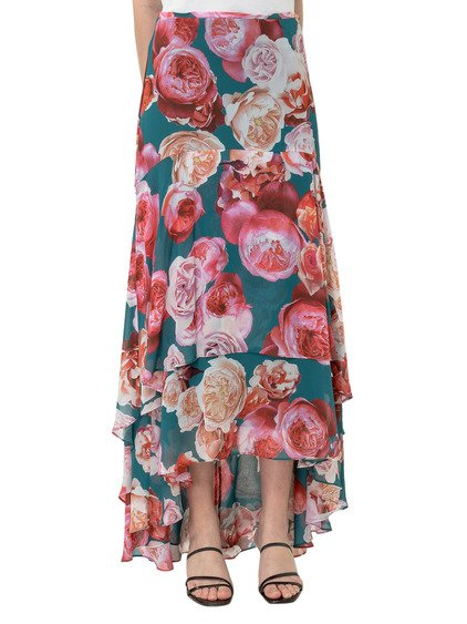 Skirt with Floral Print image