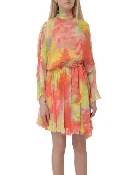 Dress with Tie-Dye Print image