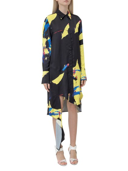 Chemisier Dress with Multicoloured Print image