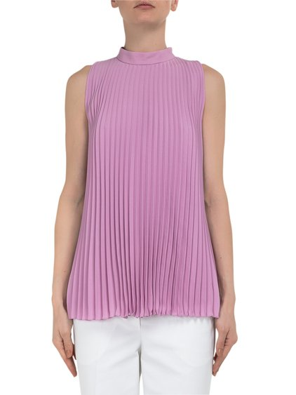 Pleated Silk Top image