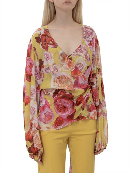 Top with Floral Print image