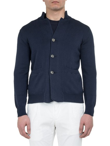 Polo Cardigan in Cotton image
