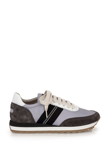 Satin and Suede Sneakers image