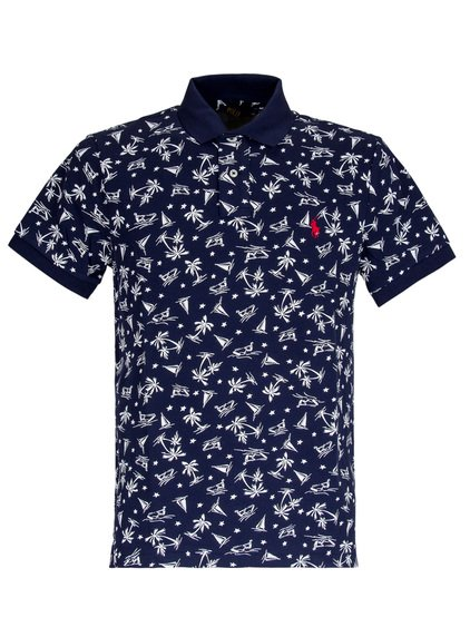 Polo with Pattern and Logo image