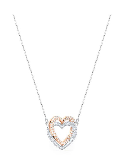 Infinity Double Heart Necklace image