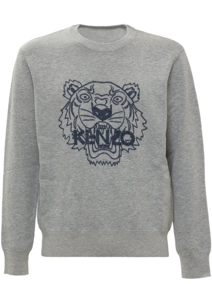 Sweater with Tiger Embroidery image
