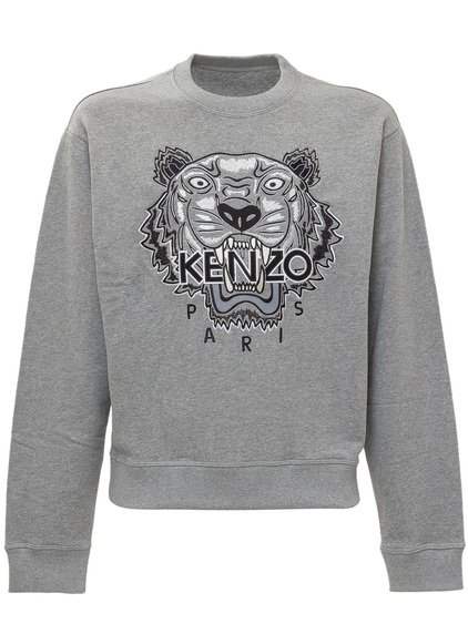 Sweatshirt with Tiger Embroidery image