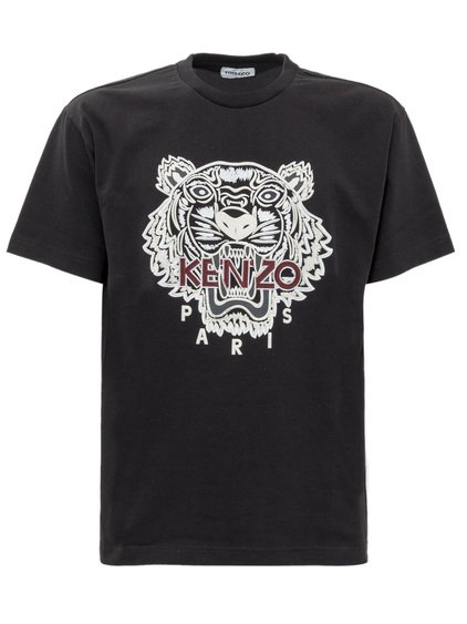 T-shirt with Tiger Emboridery image