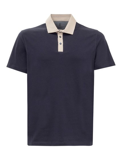 Polo Shirt with Contrast Collar image