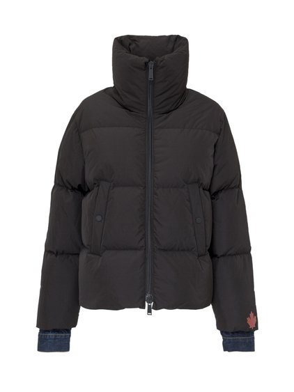 Down Jacket with Jean Insert image
