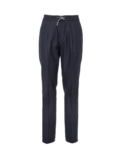 Trousers with Elastic Drawstring image