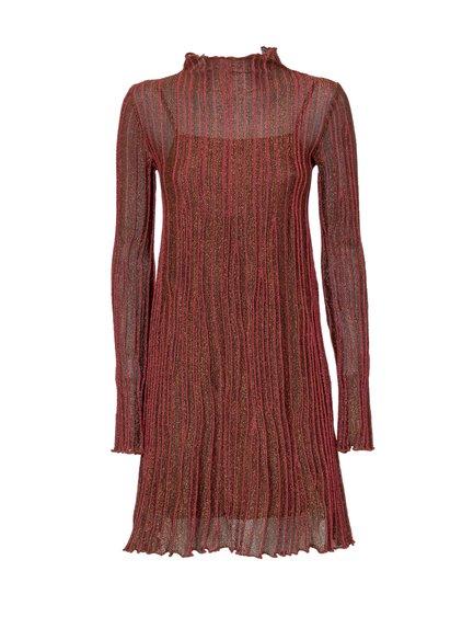 Dress with Raised Collar image